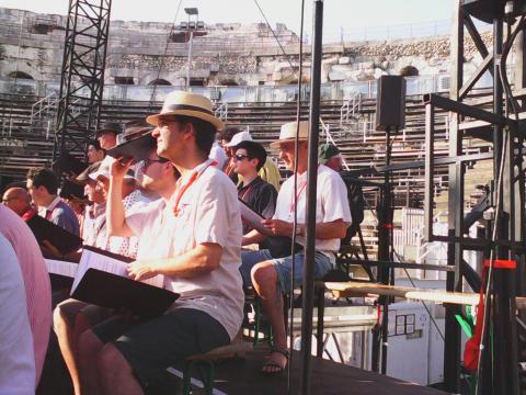 Tormey Woods during Ennio Morricone rehearsal